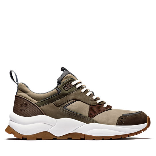 Tree Racer Leather Sneaker for Men in Greige | Timberland