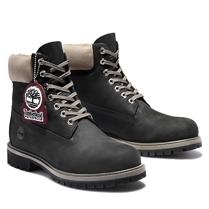 Timberland® Premium 6 Inch Boot in Black/Grey-