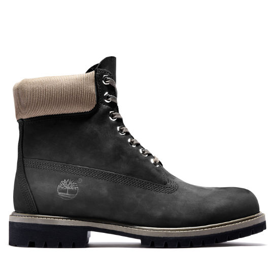 Timberland® Premium 6 Inch Boot in Black/Grey | Timberland