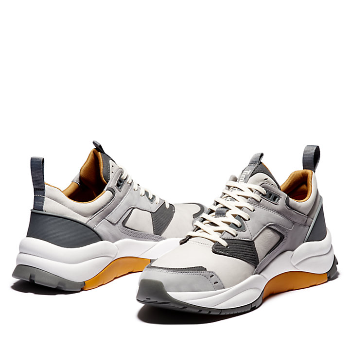 Basket en cuir Tree Racer pour homme en gris-