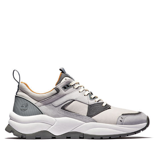 Tree Racer Leather Sneaker for Men in Grey | Timberland