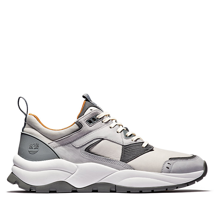 Tree Racer Leather Sneaker for Men in Grey-