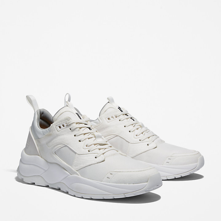 Tree Racer Mesh Sneaker for Men in White-