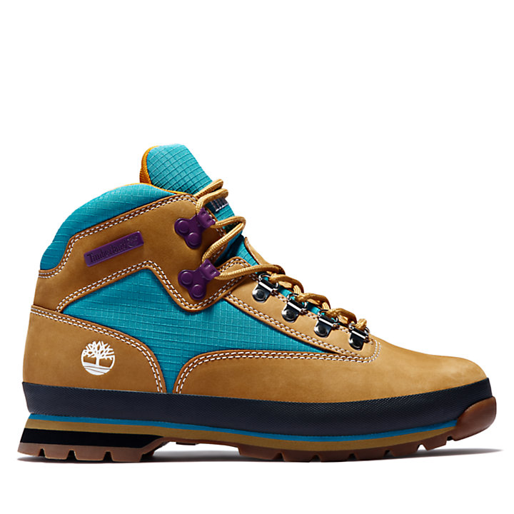 Leather Euro Hiker for Men in Yellow-