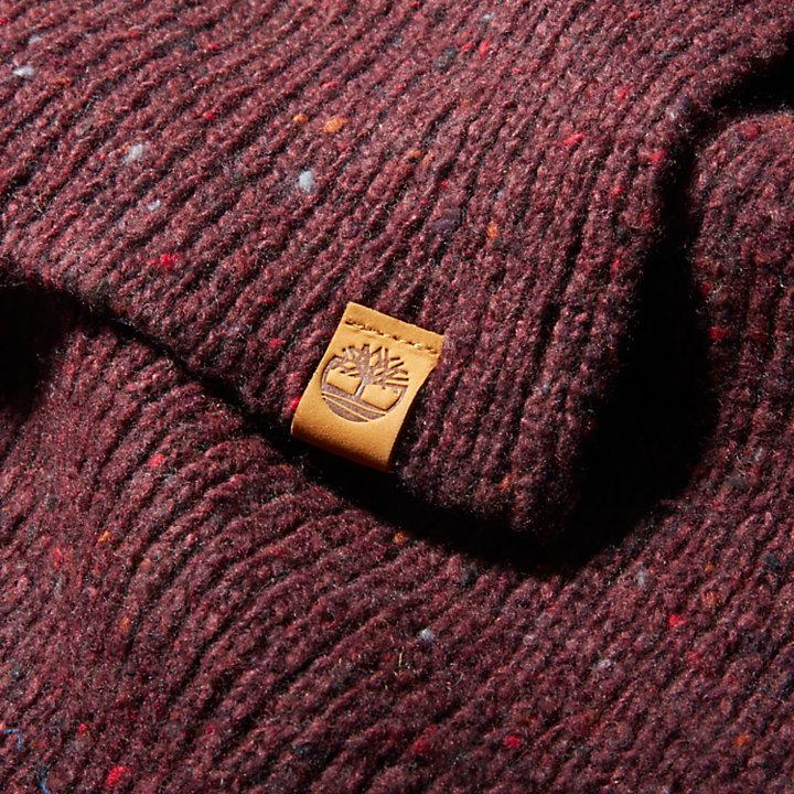 Pine Island Gerippter Schal für Herren in Rot-
