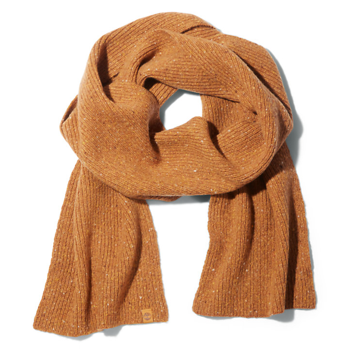 Pine Island Ribbed Scarf for Men in Yellow-