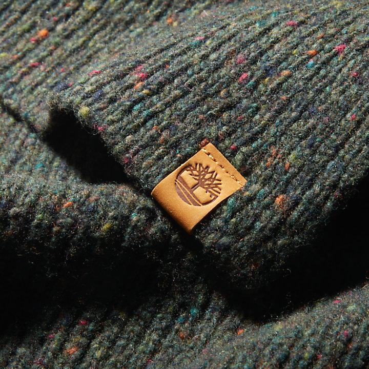 Pine Island Gerippter Schal für Herren in Dunkelgrün-