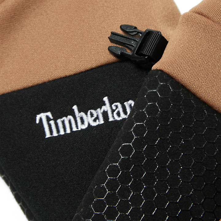 Colour-Block Stretch Fleece Gloves for Men in Yellow-