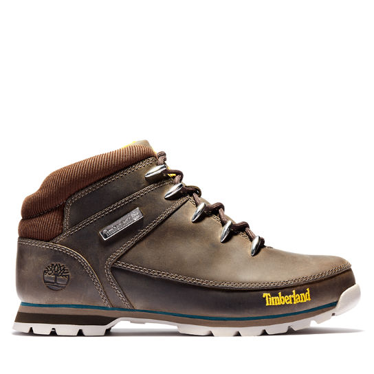 Euro Sprint Mid Hiker for Men in Dark Brown/Teal | Timberland