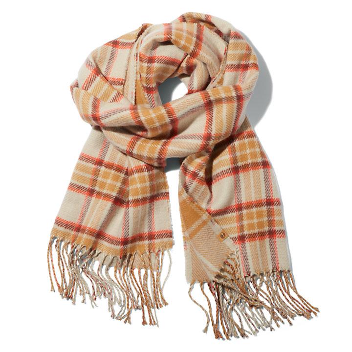Karierter Schal für Damen in Beige-