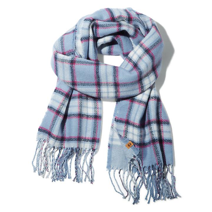 Geruite sjaal voor dames in blauw-