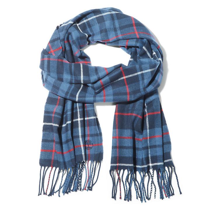 Geschenkset mit kariertem Schal für Herren in Navyblau-