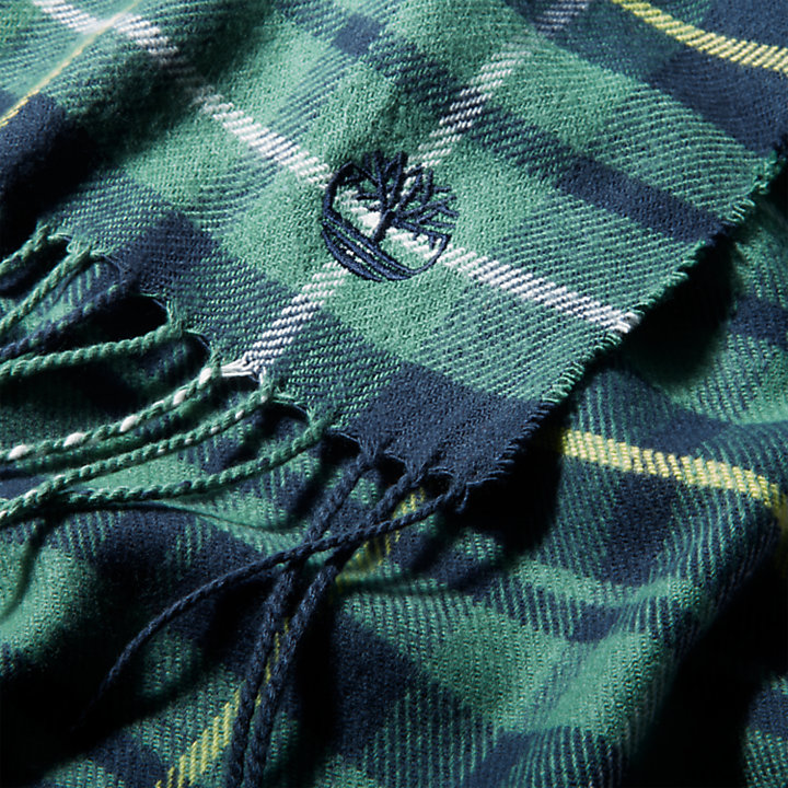 Geruite sjaal in cadeauverpakking voor heren in groen-