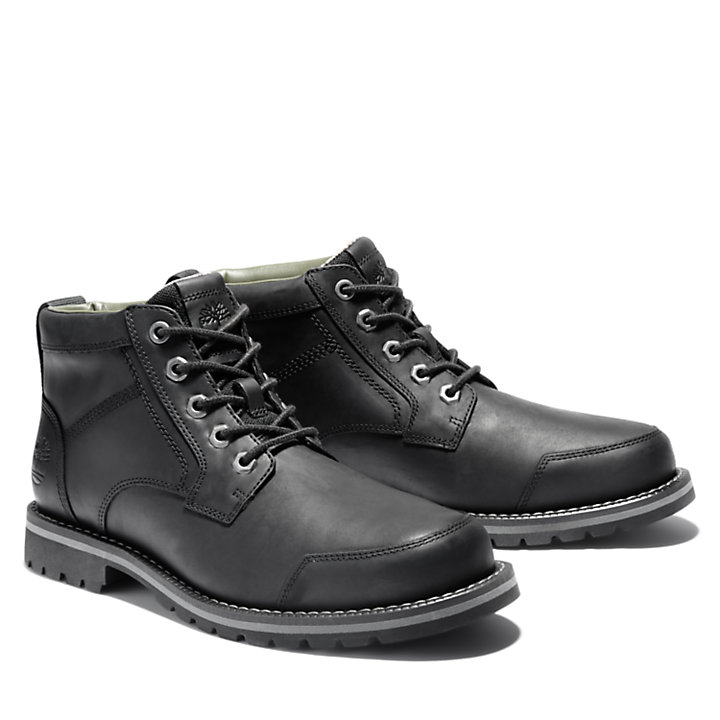 Larchmont II Leather Chukka for Men in Black-