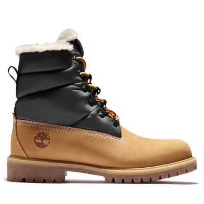 Heritage+Faux+Fur+Puffer+Boot+for+Men+in+Yellow