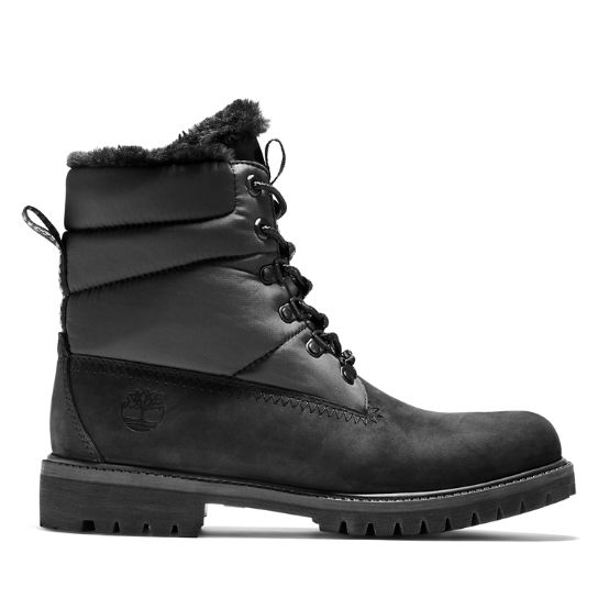 Heritage Faux Fur Puffer Boot for Men in Black | Timberland
