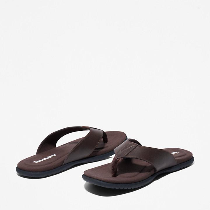 Sandalo da Uomo Kesler Cove Toe-bar in marrone scuro-