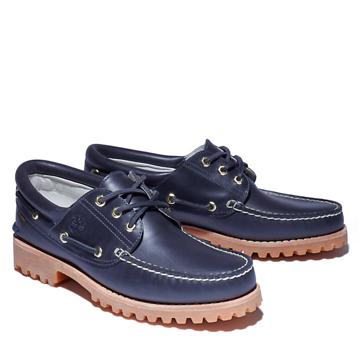 Aimé Leon Dore x Timberland® 3-Eye  Classic Lug Boat Shoe for Men in Navy-
