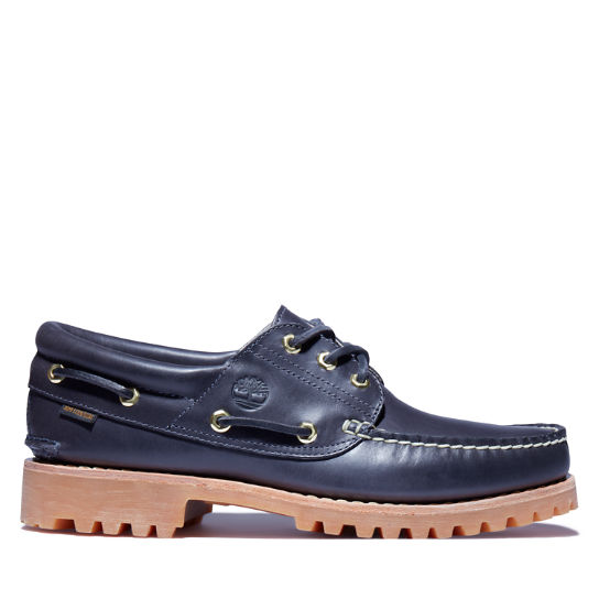 Aimé Leon Dore x Timberland® 3-Eye  Classic Lug Boat Shoe for Men in Navy | Timberland