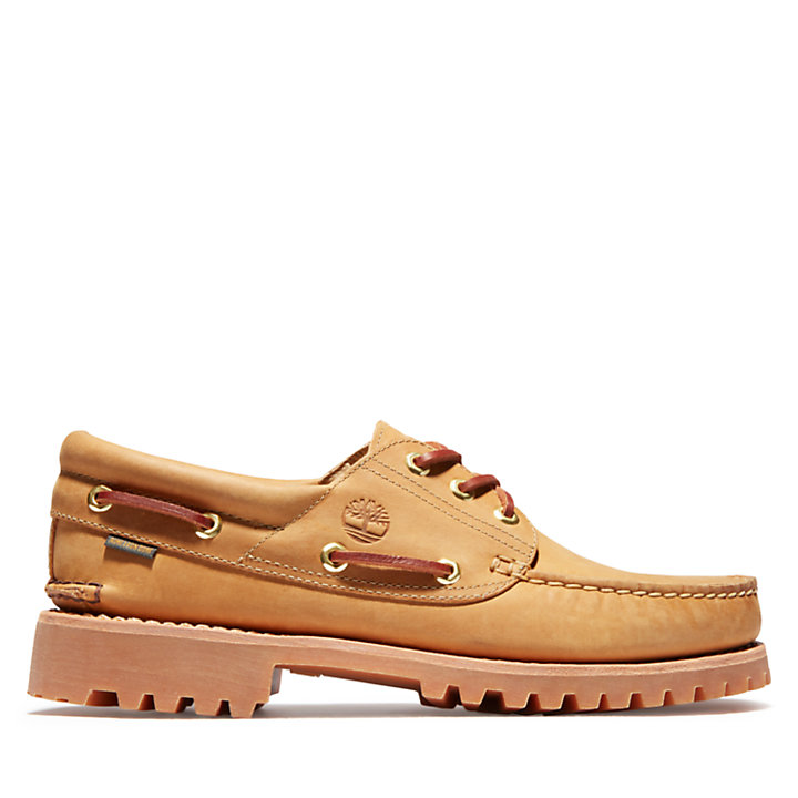 Aimé Leon Dore x Timberland® 3-Eye  Classic Lug Boat Shoe for Men in Yellow-