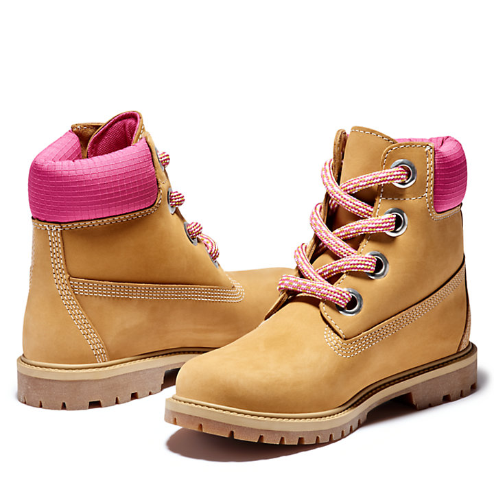 Heritage 6 Inch Pull-on Boot for Women in Yellow-
