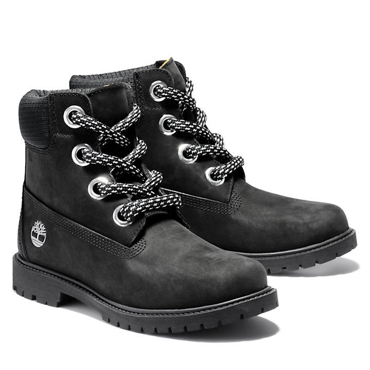 Heritage 6 Inch Pull-on Boot for Women in Black-