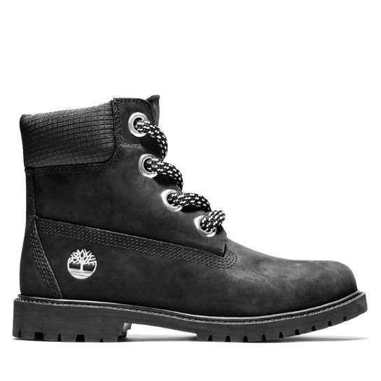 Heritage 6 Inch Pull-on Boot for Women in Black | Timberland