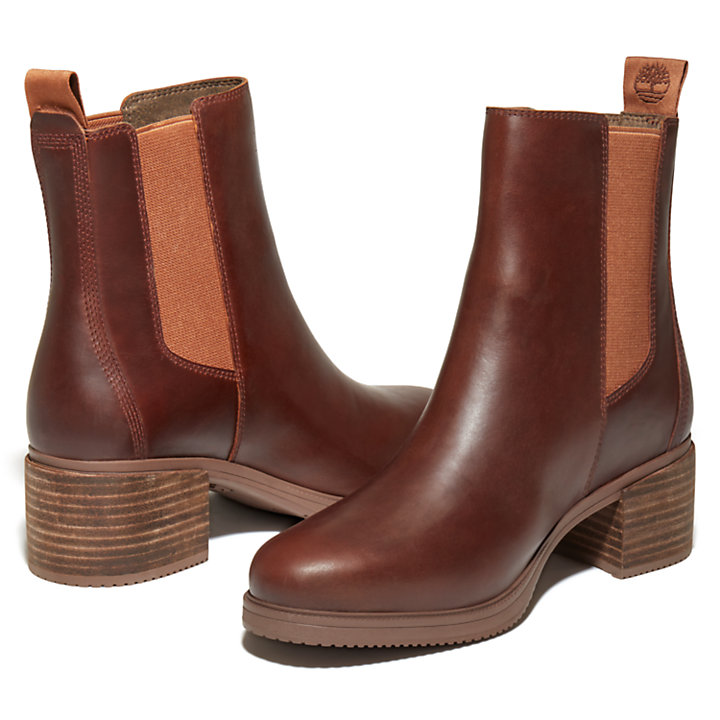 Dalston Vibe Chelsea Boot for Women in Brown-