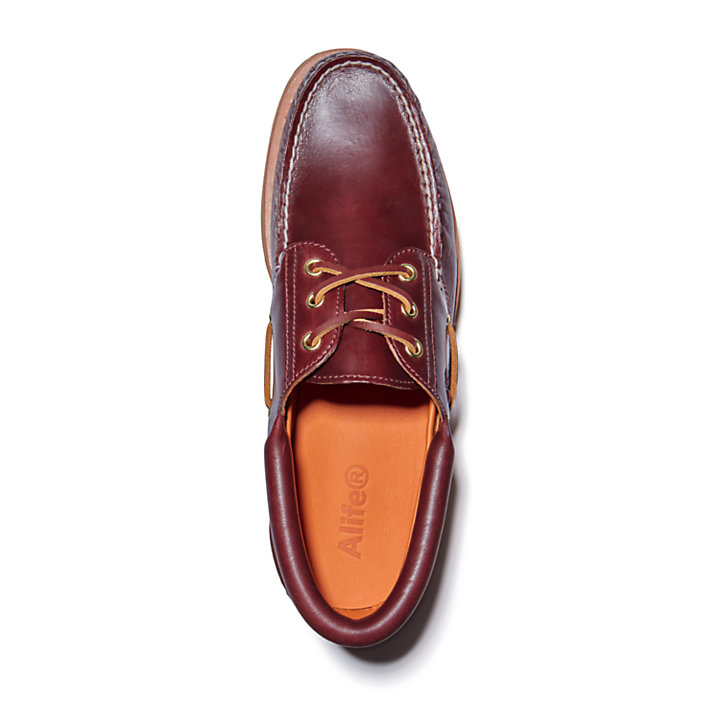 Alife x Timberland® 3-Eye Classic Lug Boat Shoe for Men in Burgundy-