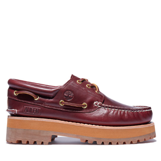 Alife x Timberland® 3-Eye Classic Lug Boat Shoe for Men in Burgundy | Timberland