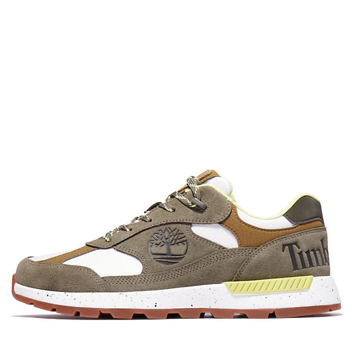 Field Trekker Leather/Fabric Sneaker voor heren in donkergroen-