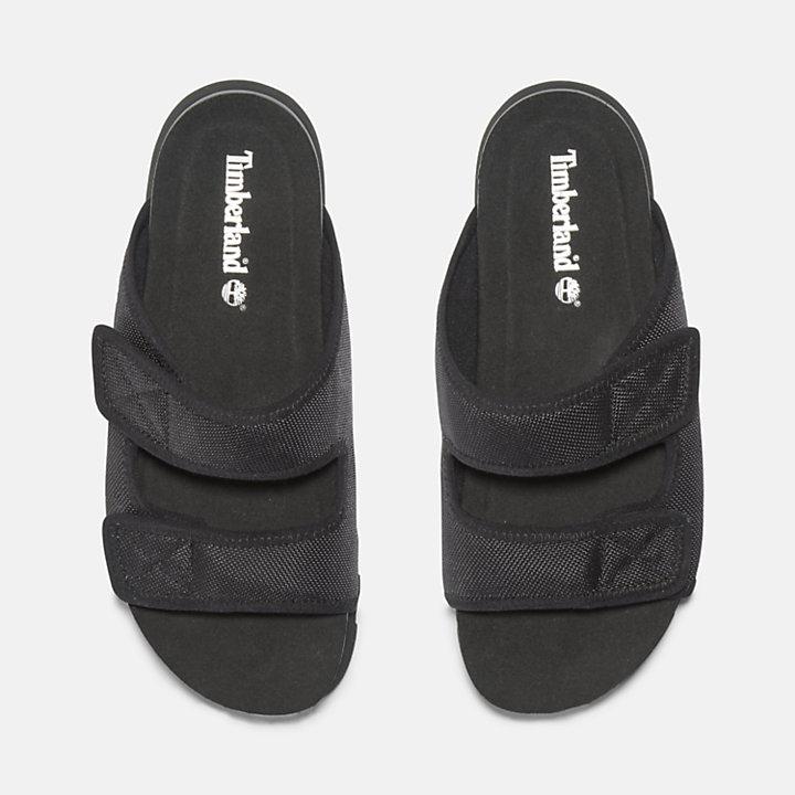 Santa Monica Sunrise Slide Sandal for Women in Black-