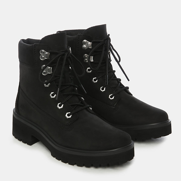 Carnaby Cool 6 Inch Boot for Women in Black Nubuck-
