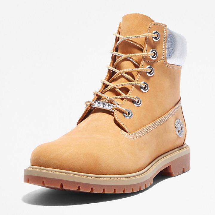 Timberland® Heritage 6-Inch-Stiefel für Damen in Gelb/Silber-