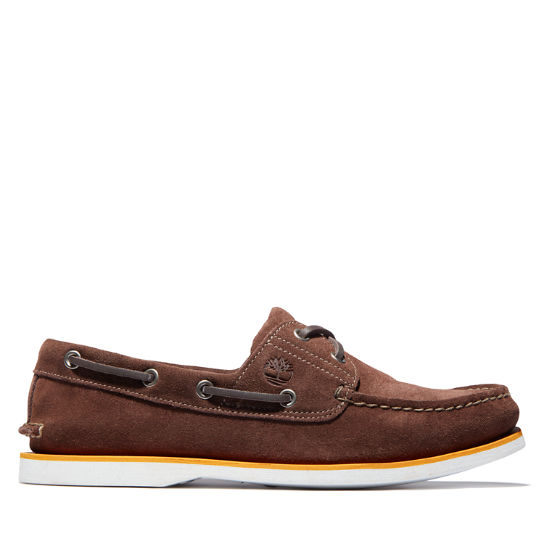 Classic Two-Eye Boat Shoe for Men in Dark Brown | Timberland