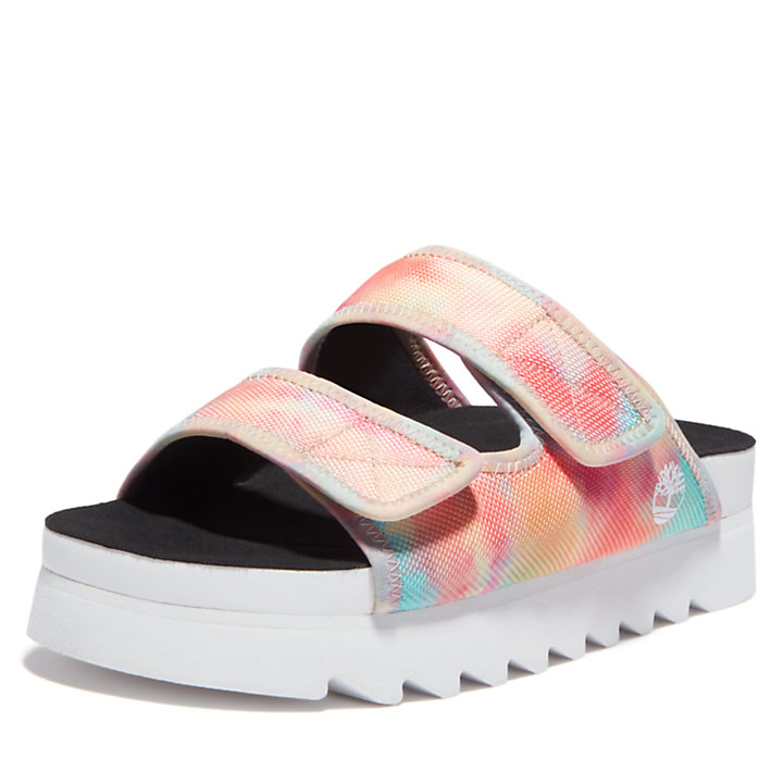 Santa Monica Sunrise Slide Sandal for Women in Tie Dye-