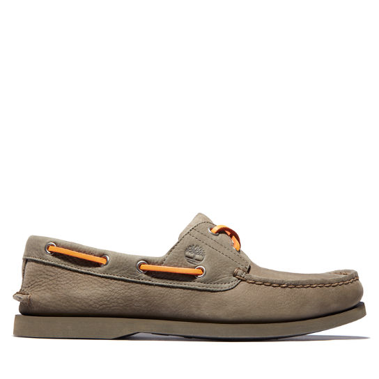 Classic Two-Eye Boat Shoe for Men in Light Beige | Timberland