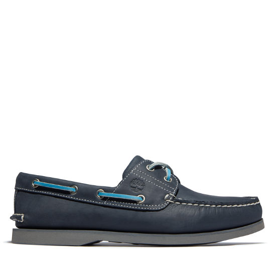 Classic Two-Eye Boat Shoe for Men in Navy | Timberland