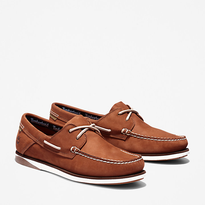 Atlantis Break Boat Shoe for Men in Brown-