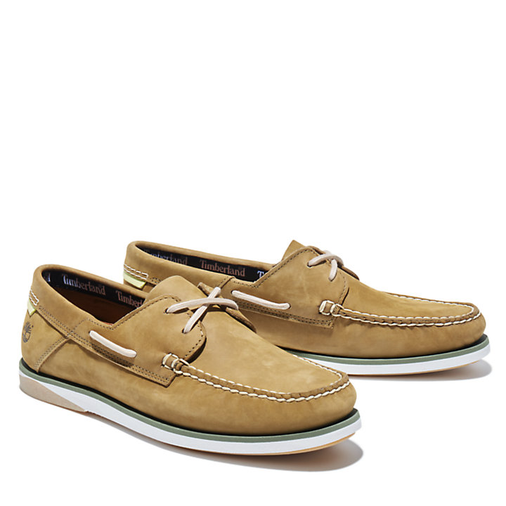 Atlantis Break Boat Shoe for Men in Green-