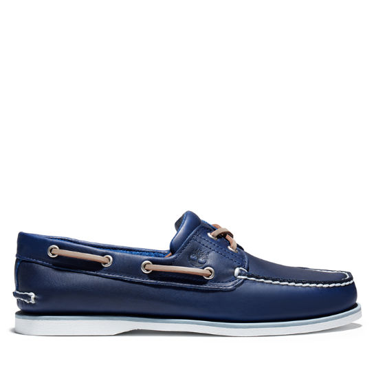 Classic Full-grain Boat Shoe for Men in Navy | Timberland