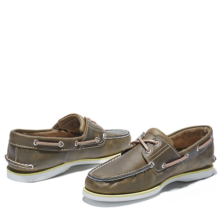Classic Boat Shoe for Men in Greige-