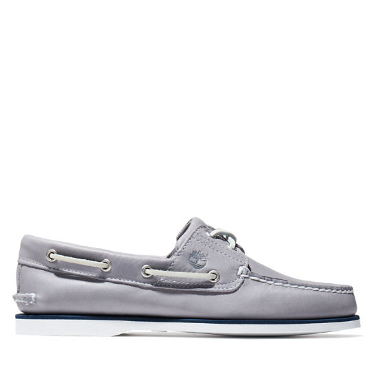 Classic Full-grain Boat Shoe for Men in Grey | Timberland