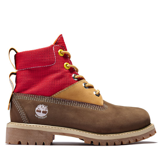 Premium 6 Inch Winter Boot for Youth in Brown | Timberland