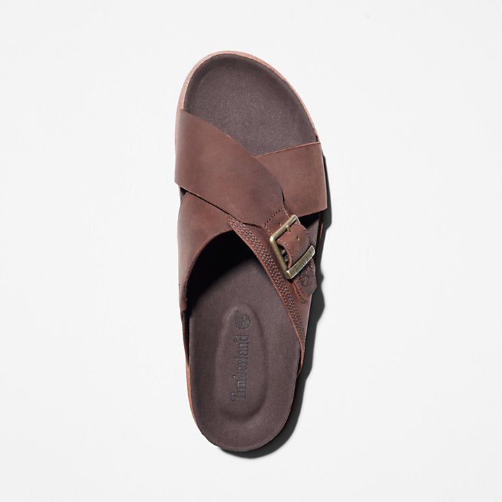 Sandalo da Uomo Amalfi Vibes Cross Slide in marrone-