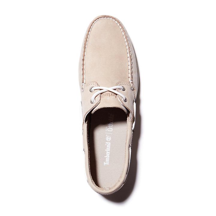 Cedar Bay Boat Shoe for Men in Beige-