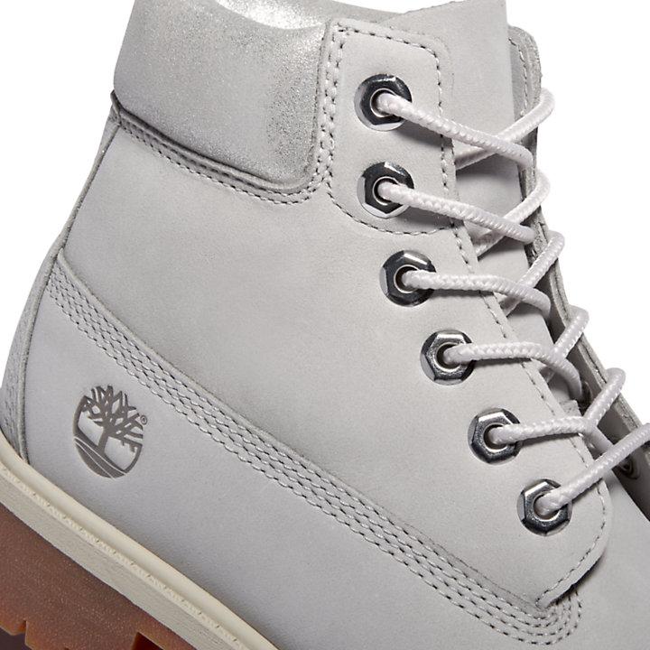 Bota 6 inch Premium para Niño (de 30,5 a 35) en gris claro-