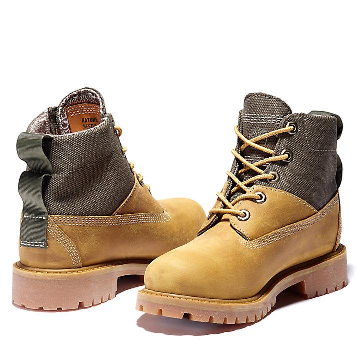 Bota de Invierno 6 Inch Premium para Niño (de 30,5 a 35) en amarillo/beis grisáceo-