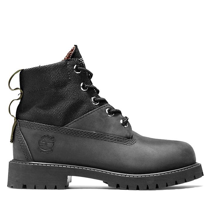 Premium 6 Inch Winter Boot voor kids in zwart-