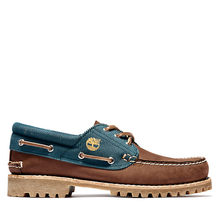 Authentics Boat Shoe for Men in Dark Brown-